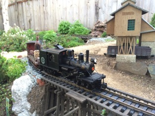 Climax #3 crosses the Priya Canyon Trestle. A Trevor Park photo.